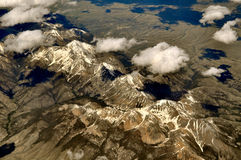 Ariel Mountain Cloud View. Rocky Mountains Stock Images