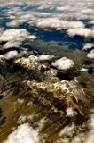 Ariel Mountain Cloud View Royalty Free Stock Photos
