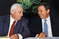 Ariel Sharon and Meir Shetreet Royalty Free Stock Photo