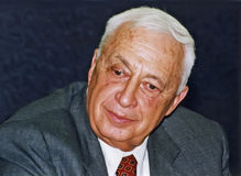 Ariel Sharon. Member of Knesset Ariel Sharon, at the time the Acting Likud Party Chairman, attends a Likud Conference as one of the three candidates for the Stock Photography
