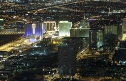 Ariel van Las Vegas (nacht) Royalty-vrije Stock Afbeeldingen