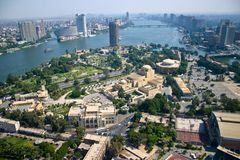 Ariel view from cairo tower royalty free stock photo