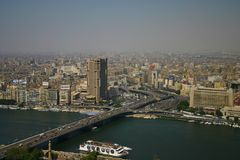 Ariel view from cairo tower royalty free stock photography