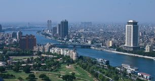 Ariel view from cairo tower Royalty Free Stock Image