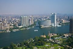 Ariel view from cairo tower stock photography