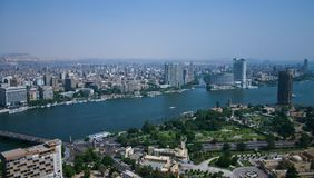 Ariel view from cairo tower Stock Images