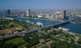 Ariel view from cairo tower stock photo