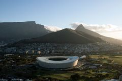 Ariel View of Cape Town Stadium royalty free stock photos