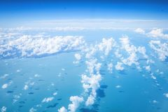Ariel view cloudscape over sea royalty free stock photography