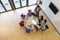 Ariel View de leçon de technologie Image libre de droits