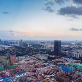 Ariel View der Baustelle in Guangzhou China Lizenzfreie Stockfotos