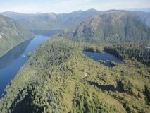 Ariel View di Misty Fjords nella foresta nazionale di Ketchikan Alaska Tongass fotografia stock