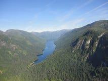 Ariel View di Misty Fjords nella foresta nazionale di Ketchikan Alaska Tongass immagine stock libera da diritti