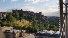 Edinburgh castle view. Ariel view of Edinburgh castle stock photography