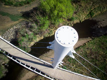 Ariel View Of Footbridge Arkivfoto