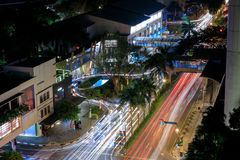 Ariel view of Greenbelt Shopping Mall Entrance in Makati, Metro Manila, Philippines. Manila, Philippines - Feb 24, 2018 : Ariel view of Greenbelt Shopping Mall Royalty Free Stock Images