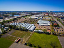 Ariel View Of Greenhouses Stock Image