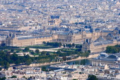 Ariel View of the Louvre Stock Photo