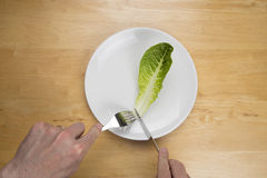 Ariel view of male eating disorder concept Royalty Free Stock Photography