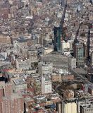 Ariel view of manhattan New York. Shot from lower Manhattan on a sunny day royalty free stock image