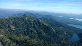 Ariel View of Misty Fjords in Ketchikan Alaska Tongass National Forest stock photography