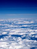 Ariel View Mount Top in clouds Royalty Free Stock Photography
