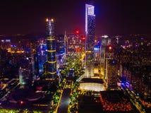 Ariel View neuer Stadt Zhujiang in Guangzhou China Lizenzfreie Stockfotografie
