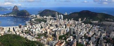Ariel view of Rio De Janeiro. Panoramic view of Rio de Janeiro stock photo