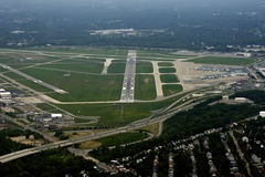 Runway Landing Stock Photo