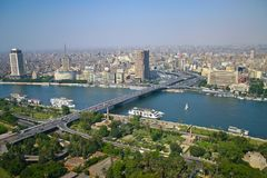 Ariel view from cairo tower Royalty Free Stock Images
