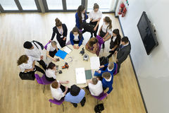 Ariel View of Technology Lesson Stock Photo