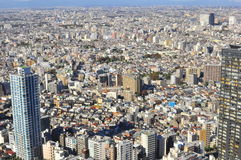 Ariel view of Tokyo city , Japan Royalty Free Stock Images