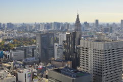 Ariel view of Tokyo city , Japan Royalty Free Stock Photos