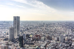Ariel View of Tokyo City, Japan. Bird's eye view from observatories on the 45th floor of Tokyo Metropolitan Government Building at night, Japan. Tokyo royalty free stock image