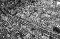 Ariel View of Tokyo Suburb Royalty Free Stock Photography
