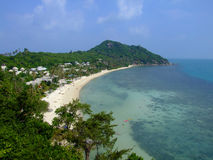 Ariel view of tropical beach, Thailand. Ariel view of Leela beach, Koh Phangan, Thailand Royalty Free Stock Photo