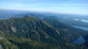 Ariel View van Misty Fjords in het Nationale Bos van Ketchikan Alaska Tongass stock fotografie