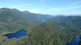 Ariel widok Mgliści Fjords w Ketchikan Alaska Tongass lesie państwowym obrazy royalty free