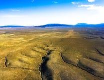 Ariel widok Nowy Taos - Mexico od gorące powietrze balonu zdjęcia royalty free