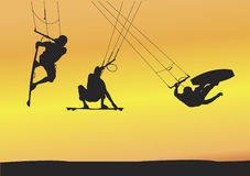 ariellogiet hoppar draken Arkivfoto