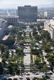 Arielmening van Groot Park in Los Angeles stock afbeeldingen