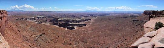 Arielview über Canyonland in Utah stockfotografie