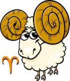 Aries ή το zodiac κριού σημάδι Στοκ Φωτογραφία