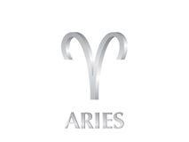 aries σημάδι Στοκ Εικόνες