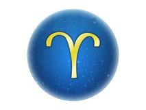 aries χρυσό zodiac σημαδιών Στοκ Φωτογραφίες