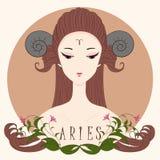 Aries девушки зодиака стоковые фотографии rf