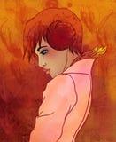 aries как красивейший зодиак знака девушки Стоковая Фотография RF