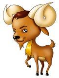 Aries. Illustration of Aries symbol in cartoon style Stock Image