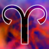 Aries. Astrological symbol of sign aries stock illustration