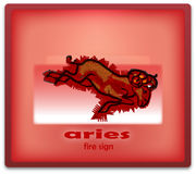 Aries. Fire sign of zodiac system royalty free illustration